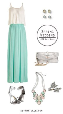 If you're attending a spring wedding (or engagement party), it can be difficult to find an outfit to wear that's also affordable. || Spring Wedding Guest Style for $150