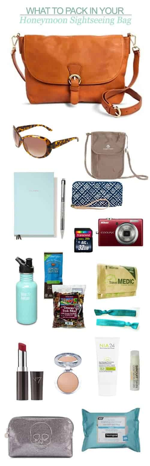 Here are my suggestions for what to pack in your honeymoon sightseeing bag || Kiss My Tulle
