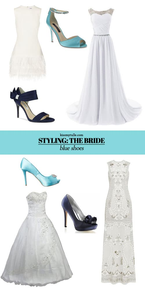 How to Showcase Blue Shoes for your Wedding Day Look || Kiss My Tulle