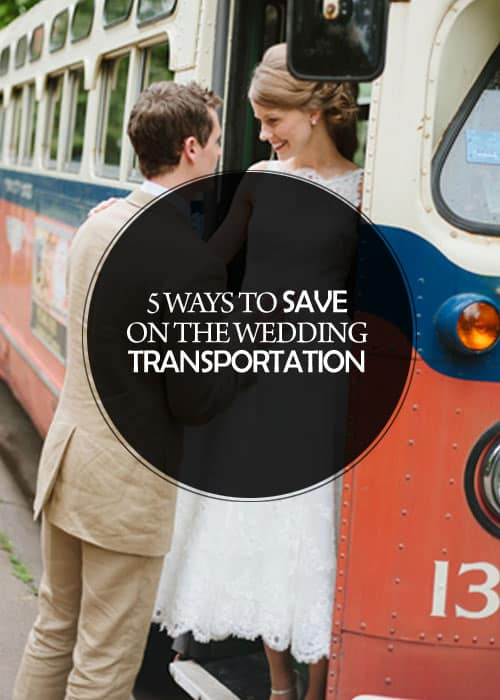 5 Ways to Save on the Wedding Transportation || Kiss My Tulle