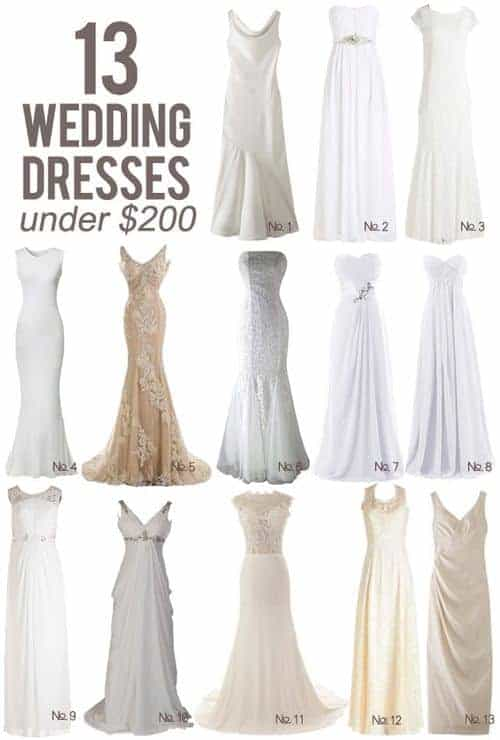 13 Wedding Dresses Under $200 || Kiss My Tulle