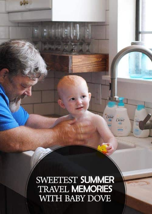I am partnering with Baby Dove. In the summer, we really love to drive down to the coast. All that sand and sea salt can really make a mess so I always toss someBaby Dove products in our bags to handle clean up while on the road. Some of our sweetest summer travel memories have been bathing our babies in kitchen sinks. #DovePartner #BabyDoveLove