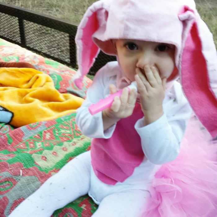 Melanie's 2014 Halloween Costume #Halloween #kidscostume #bunny