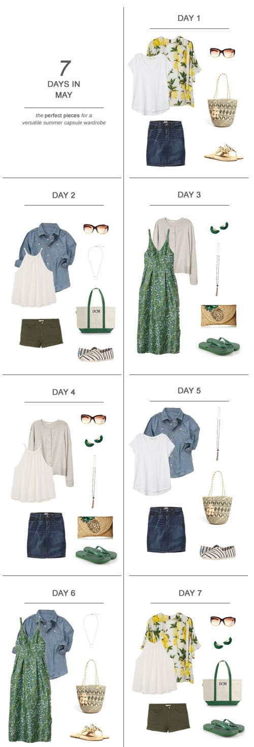 7 Days in June : The Perfect Pieces for a Versatile Summer Capsule Wardrobe #ootd #June #summer#capsulewardrobe #sahm