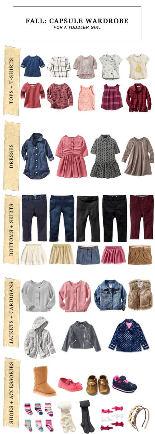 Fall Capsule Wardrobe for a Toddler Girl #toddlergirl #capsulewardrobe #fallfashion