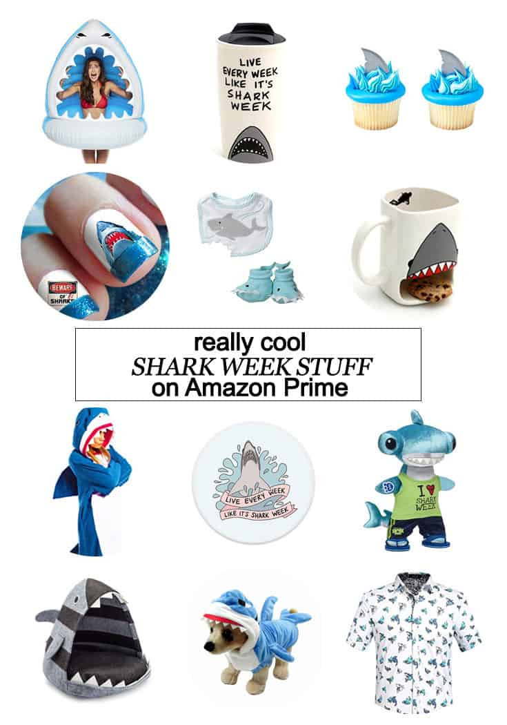 I've pulled together some cool Shark Week stuffthat you can get with Amazon Prime RIGHT NOW! #AmazonPrime #SharkWeek