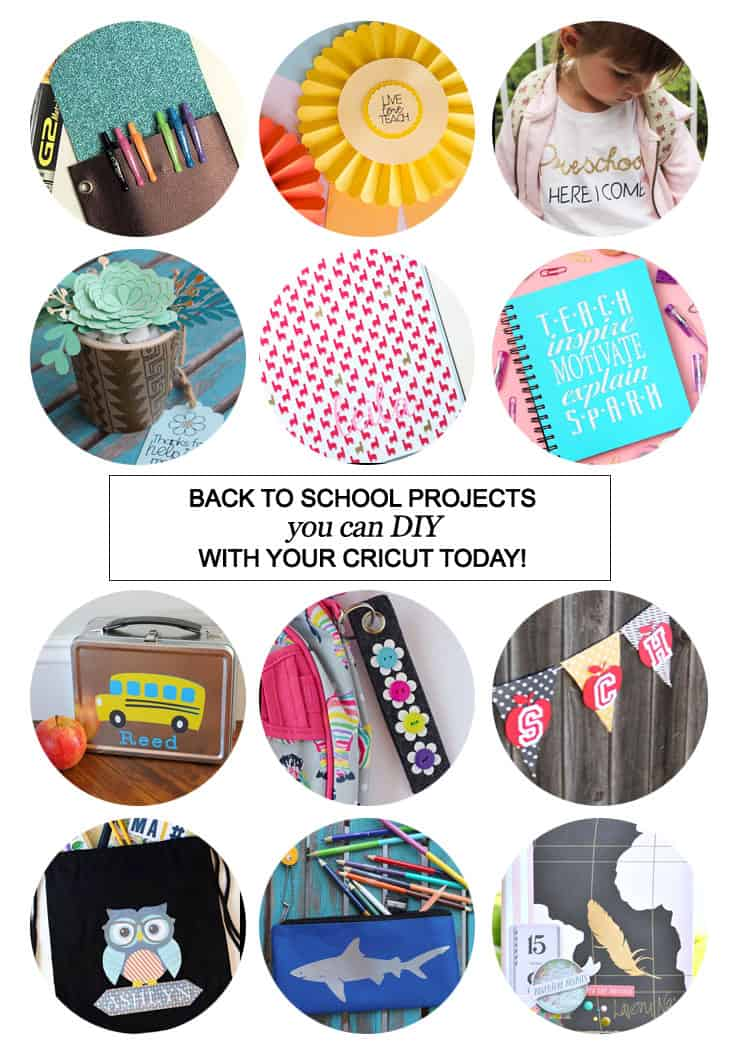 Back To School Projects You Can DIY With Your #Cricut Today! #CricutMaker #backtoschool #DIY