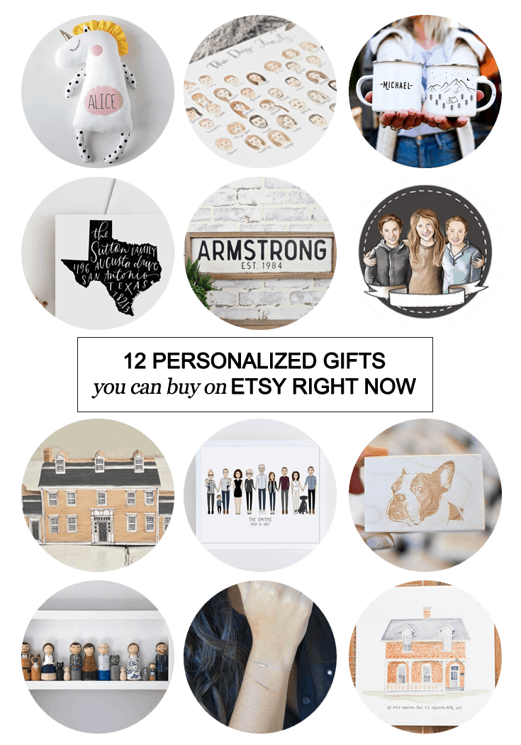 12 Personalized Gifts You Can Buy On etsy Right Now! #holidays #Christmas #weddings #shopping #giftguide #custom #handmade #personalized