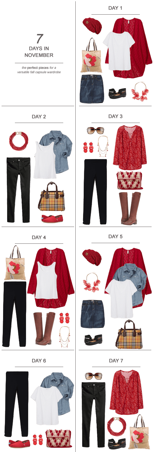 7 Days in November : The Perfect Pieces for a Versatile Fall Capsule Wardrobe #ootd #November #fall #capsulewardrobe #sahm