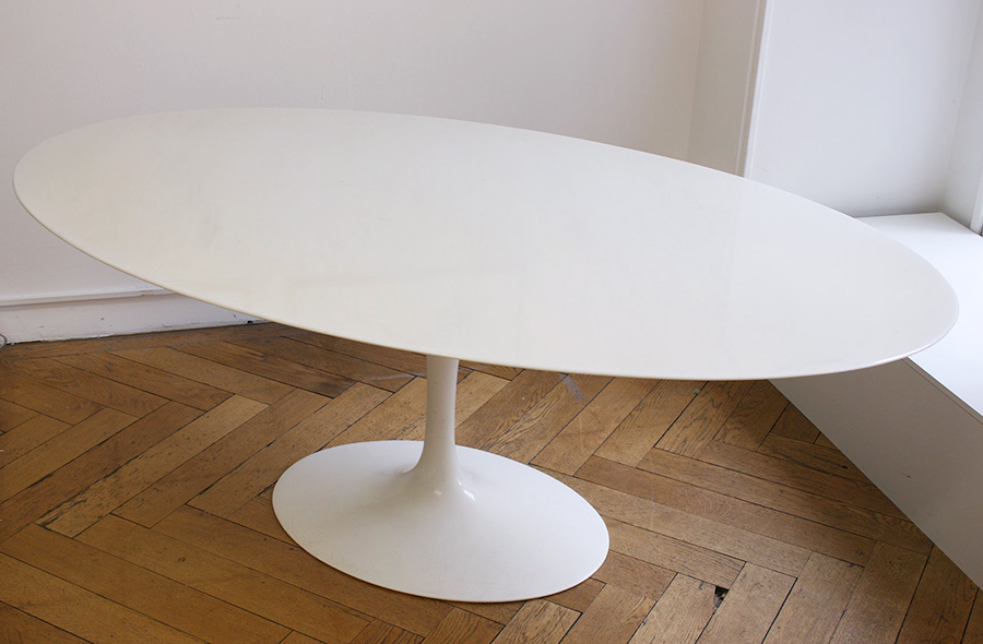 saarinen table tulipe ovale marbre