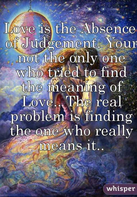 love without judgement