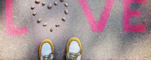 love notes on sidewalk