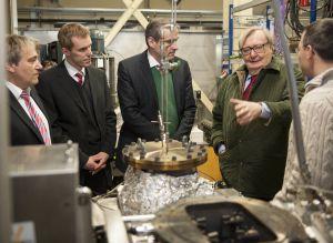 Physik-Nobelpreisträger Carlo Rubbia besuchte heute das KIT. (Foto: Martin Lober)