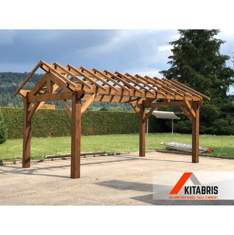 abri carport premium toiture 2 pans 16 m pente 30