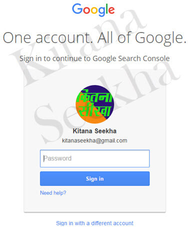 Login Google Search Console