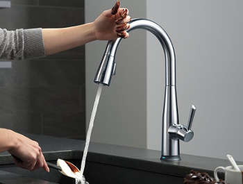 kitchen s less touchless down touch faucet item stainless malleco p kohler pull