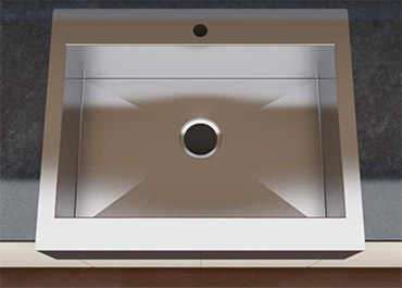 Single bowl kitchen sinks