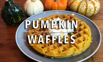 KitchAnnette Pumpkin Waffles Feature
