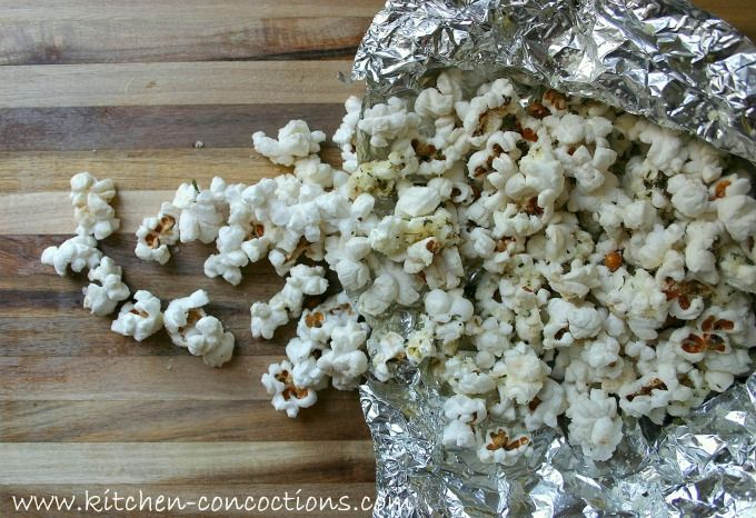 Campfire Parmesan Popcorn   Incredible Campfire Recipes You'll Want To Cook Every Day