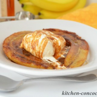 Bananas Foster with Spiced Ice Cream