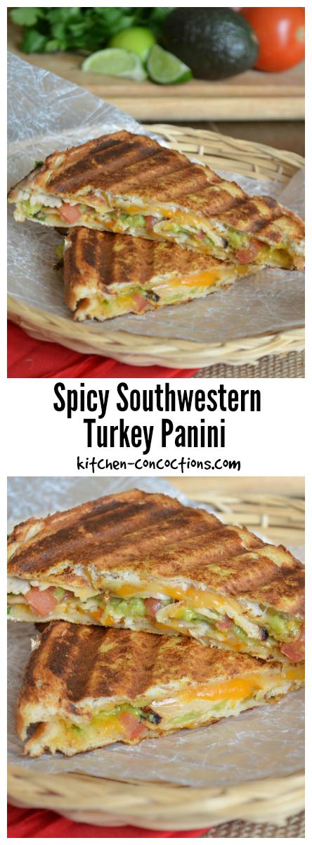 spicy southwestern turkey panini