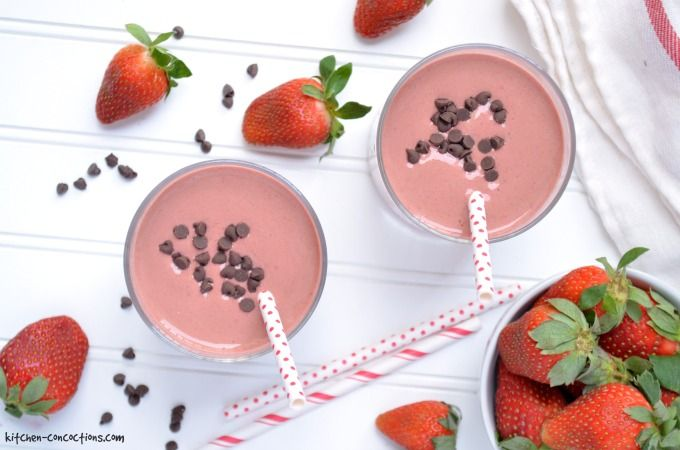 Chocolate Covered Strawberry Protein Shake