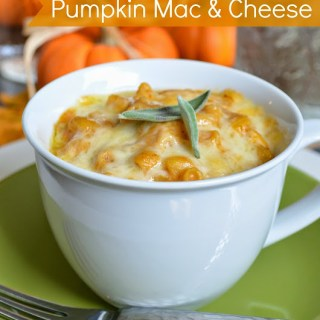Brown Butter Pumpkin Mac and Cheese {Plus Sparkling Pumpkin Themed Place Settings)