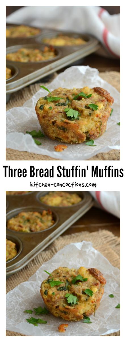 Three Bread Stuffin' Muffins