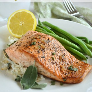 Pan Seared Salmon with Garlic Butter Sauce