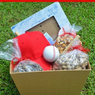 Baseball Date Night and DIY Baseball Gift Basket and Picture Frame