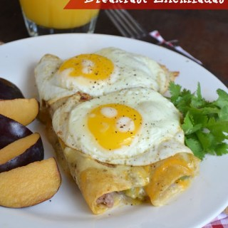 Creamy Green Chile Breakfast Enchiladas