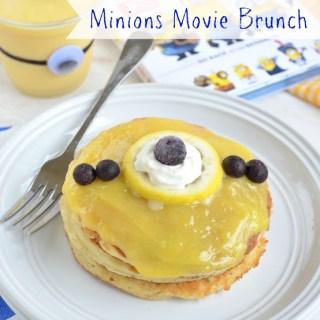 "Minions Movie Brunch {Lemon Curd ""Minion"" Pancakes and Minion Smoothies}"