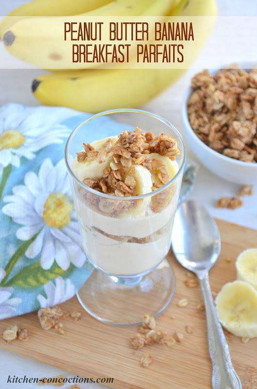 Peanut Butter Banana Breakfast Parfaits