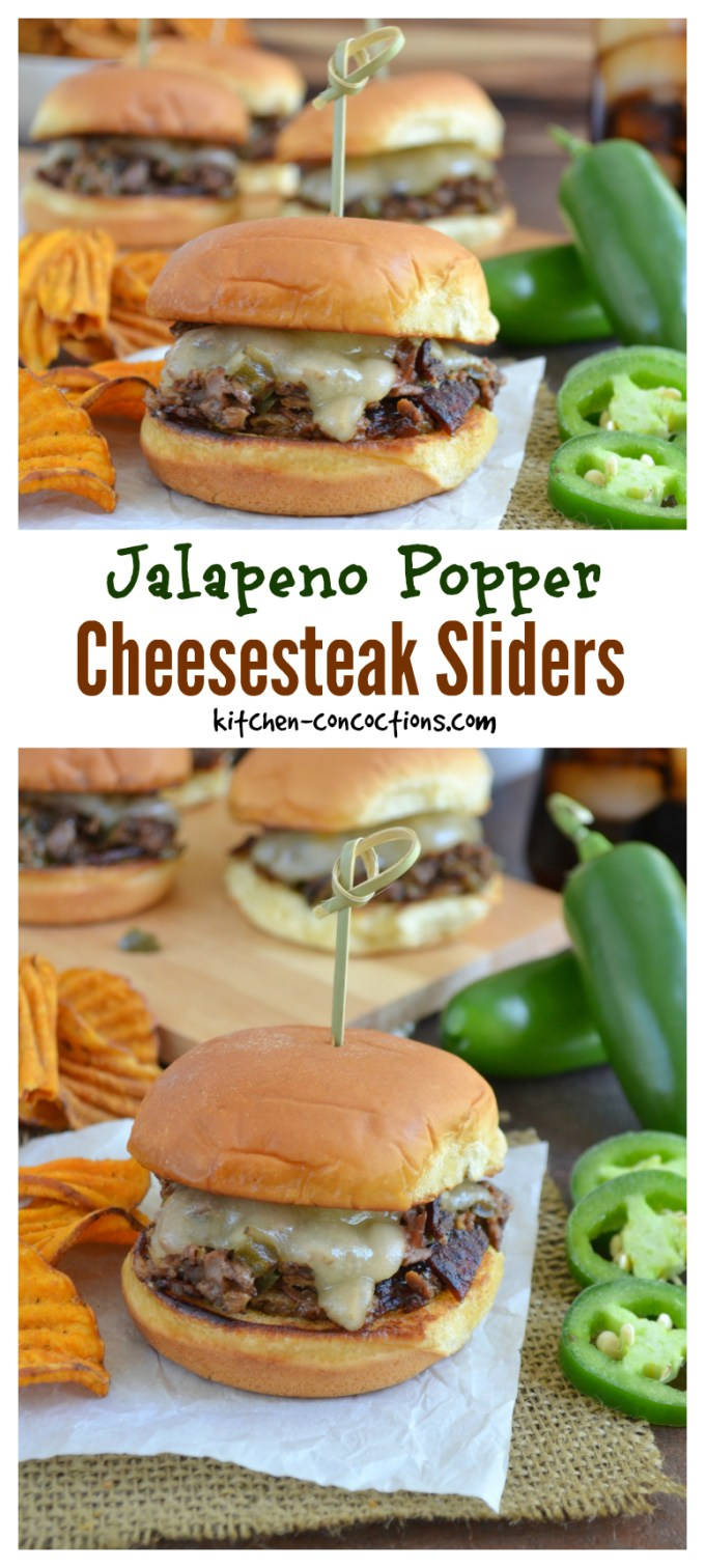 Jalapeno Popper Cheesesteak Sliders Recipe - Kitchen Concoctions
