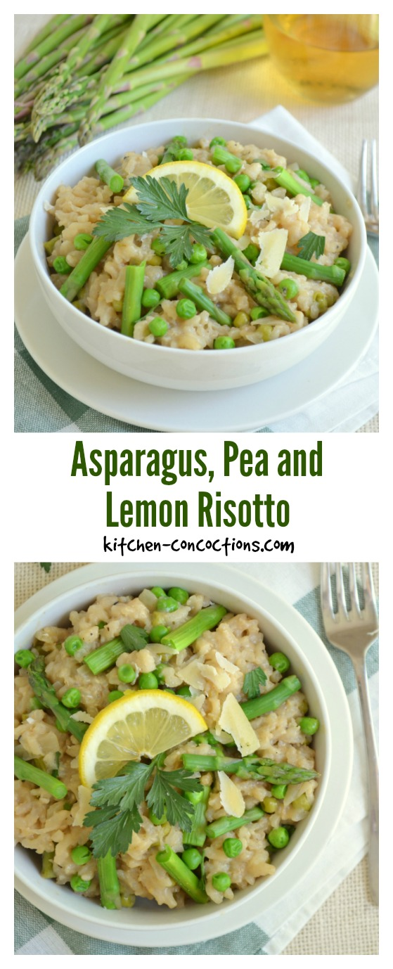 Asparagus, Pea and Lemon Risotto Recipe
