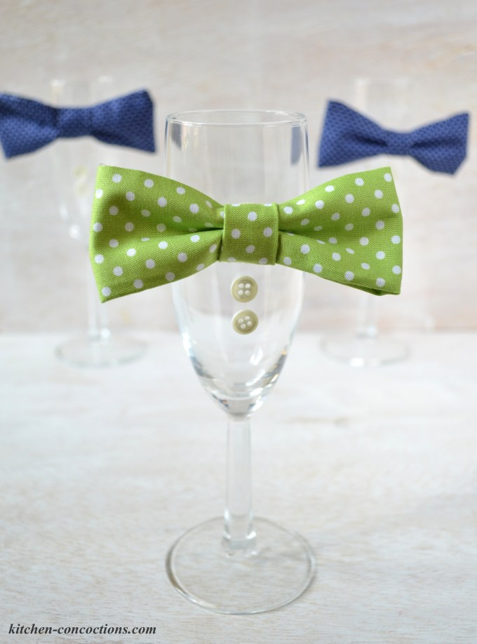 DIY Bow Tie Champagne Flute Tutorial 9