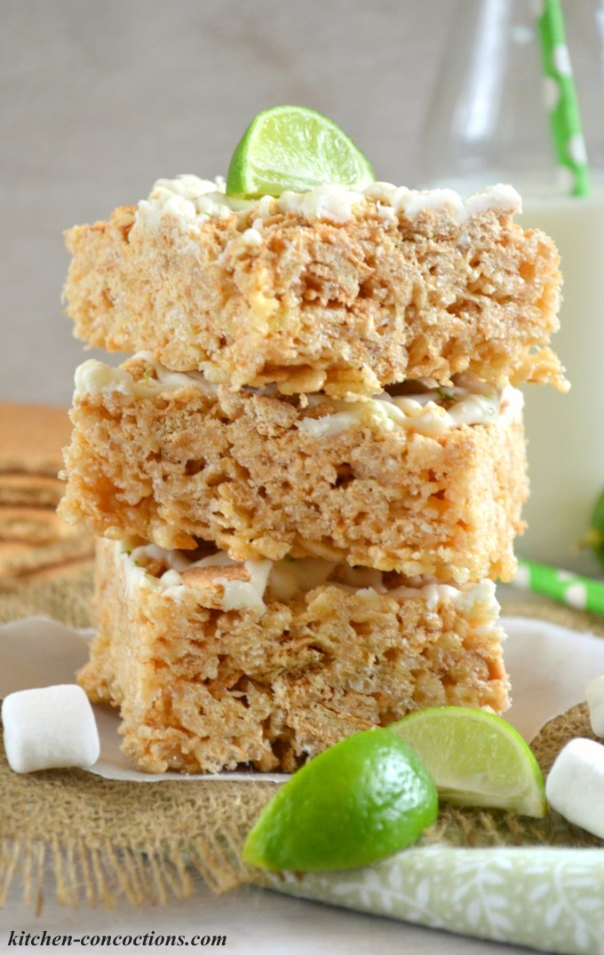 Key Lime Pie Rice Krispie Treats