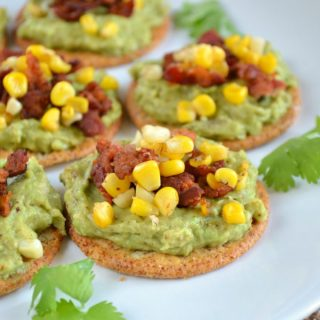 Mini Bacon-Corn Avocado Toast
