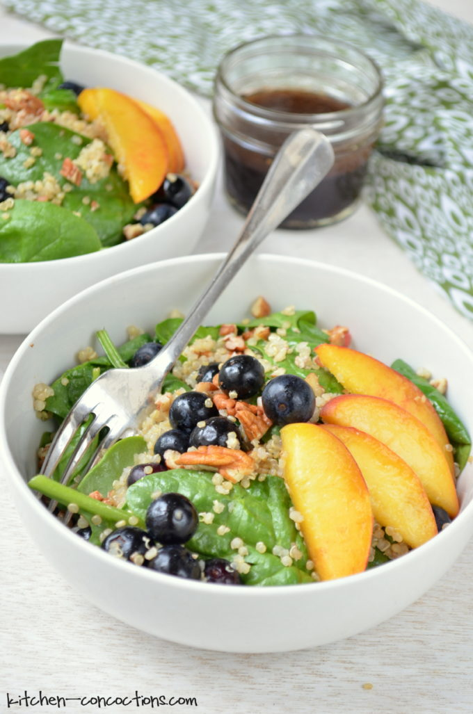 Blueberry Peach Quinoa Salad