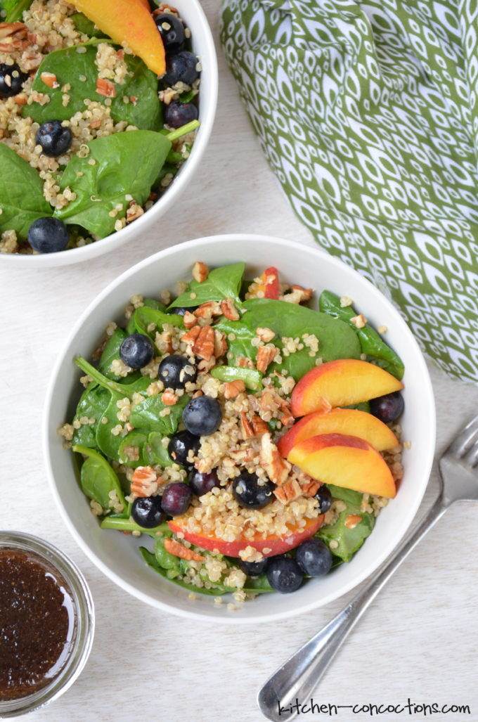 Blueberry Peach Quinoa Salad