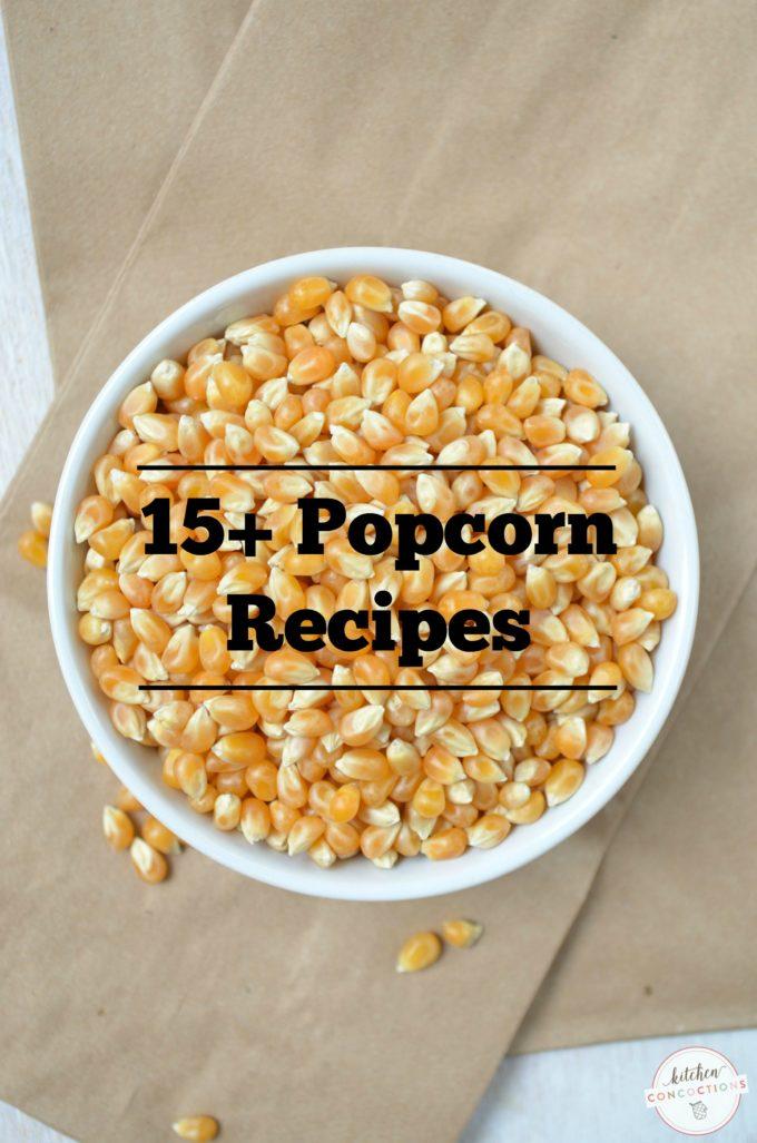 popcorn recipe round up