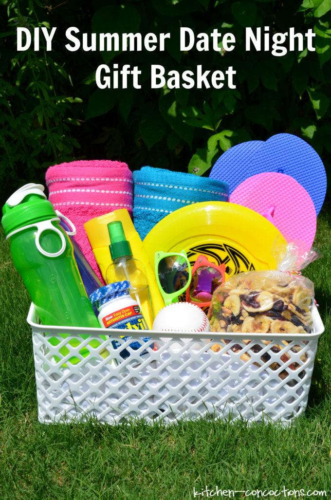 diy summer date night gift basket