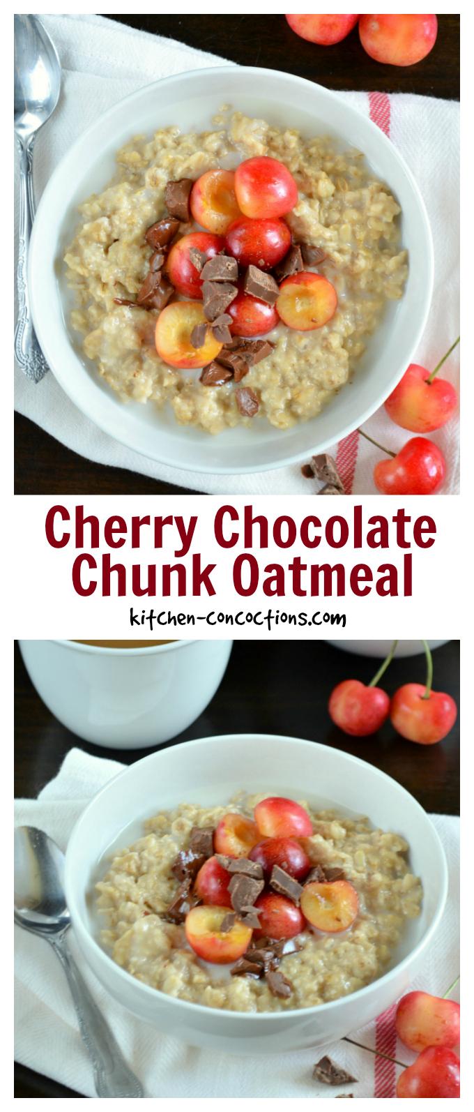 Cherry Chocolate Chunk Oatmeal