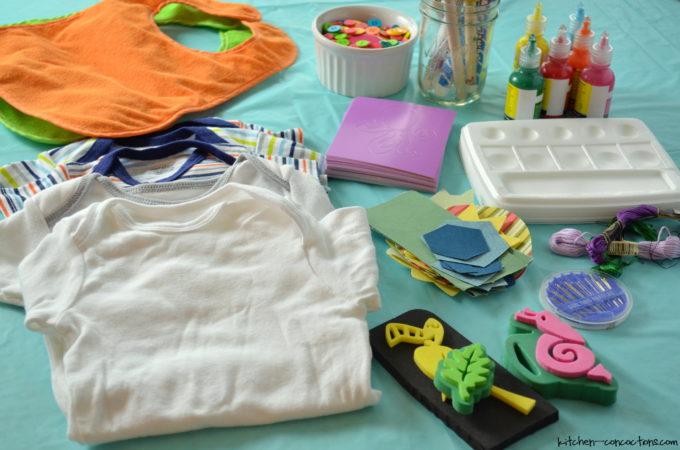 Baby Shower Ideas- Onesie Decorating