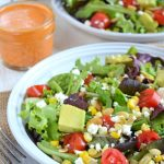 Corn, Avocado and Tomato Salad with Roasted Red Bell Pepper Vinaigrette