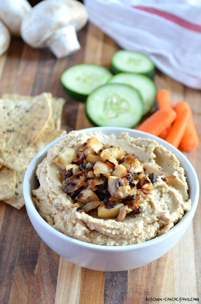 Caramelized Onion and Mushroom Hummus