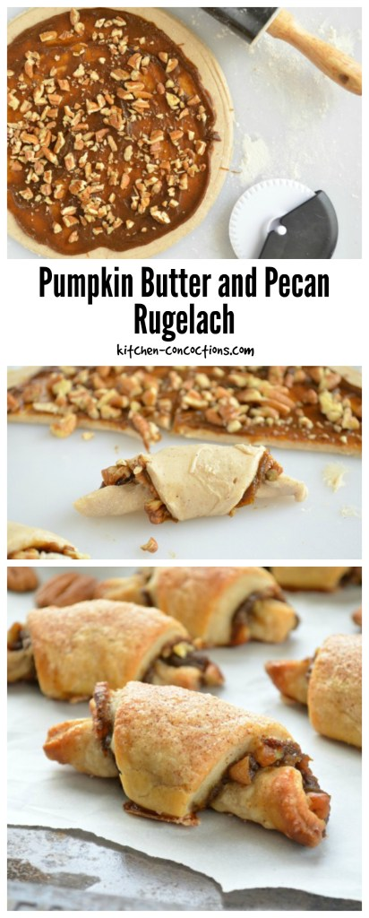 Pumpkin Butter and Pecan Rugelach