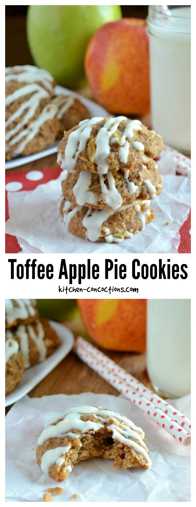 Toffee Apple Pie Cookies