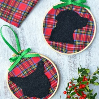 DIY Silhouette Pet Ornaments