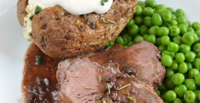 Roasted Beef Tenderloin with Red Wine Demi-Glace